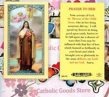 St. Saint Therese, the little flower - Prayer to Her - Laminated  Holy Card