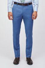 Bonobos Stretch Wool Suit Pant Slim Fit Size 38 Unfinish Hem Adam Brighter Blue
