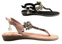 Infradito da donna Laura Biagiotti 6333 sandali bassi estate casual gioiello