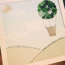 Bon Voyage botón globo aerostático en un marco. Regalo perfecto de dejar