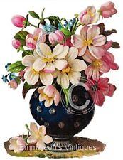 Vintage Image Dogwood Flowers In A Victorian Vase Waterslide Decals FL270