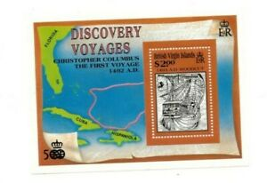 SPECIAL LOT British Virgin Islands 1991 725 - Christopher Columbus - 25 S/S -MNH
