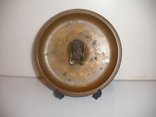 EXQUISITE SWEDEN BRONZE BOWL TRAY SCULPTURE MAN FACE AKTA BRONS SVENSK VARA NJ