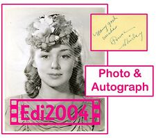 ANNE SHIRLEY Vintage Original BACHRACH Photo & AUTOGRAPH CARD EXTREMELY RARE