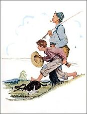 Four Norman Rockwell Prints GRANDPA AND ME FOUR SEASONS