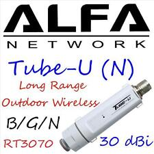 Alfa Tube-U (N) Outdoor USB Wifi adaptor+ 9 dbi Omni Antenna  long range