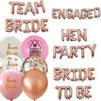 TEAM BRIDE HEN PARTY FOIL CONFETTI BALLOONS TO BE DECORATION BANNER GARLAND.