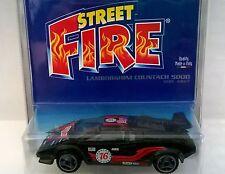 BURAGO STREET FIRE BLISTER 1:43 DIE CAST LAMBORGHINI COUNTACH 4827 MADE IN ITALY