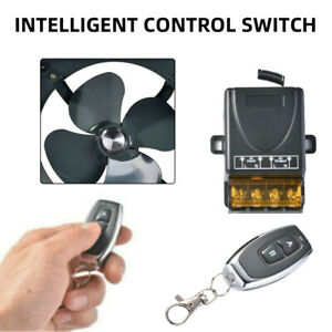 Wireless Remote Control Switch AC100-240V 433MHz 30A Relay 2CH With Transmitter