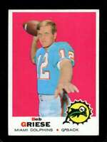1969 TOPPS #161 BOB GRIESE EX DOLPHINS HOF *XR25979