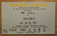 LARRY HOLMES OLIVER MCCALL HEAVYWEIGHT CHAMPIONSHIP BOXING Ticket Stub