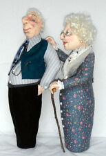 """*NEW* CLOTH ART DOLL (PAPER) PATTERN """"OLD FRIENDS KEEP YOU SANE!"""""""