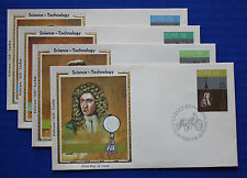 "Ireland (492-495) 1981 Science & Technology Colorano ""Silk"" FDCs"