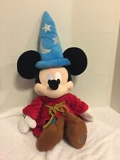 MICKEY MOUSE WINTER BLUE STAR HAT HOLIDAY PLUSH BOY TOY RED COAT GOLD ROPE