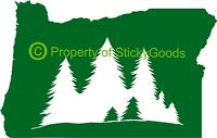 Oregon State w/ Trees Vinyl Decal Sticker for Car Window, laptop, yeti, mug
