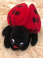 Vintage Plush Creations Ladybug Hand Puppet Red Black Velvet Plush Toy 1993