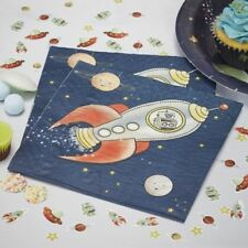PAPER NAPKINS - SPACE ADVENTURE PARTY,Rocket,Robot Birthday,Tableware,Decoration