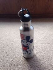 Disney True American Classic Mickey Mouse Aluminum Water Bottle Silver