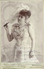 ADELINA PATTI Original Vintage HANDSIGNED Photo Cabinet IN ROLE by SWANSEA 1896