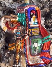 """Christopher Radko """"SULTANS PRIDE"""" Indian Elephant lifted Trunk andTusks Ornament"""