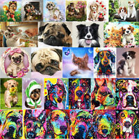 5D DIY Diamond Painting Animal Dog Cross Stitch Embroidery Mosaic Kit Craft Home