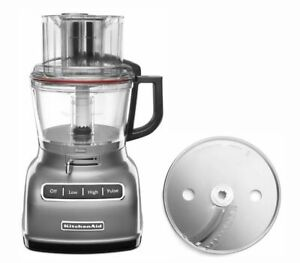 KitchenAid KFP0930 9cup Wide Mouth Food Processor Large Exact Slice, Silver