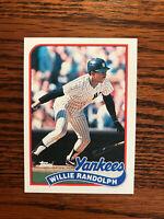 1989 Topps #635 Willie Randolph Baseball Card New York NY Yankees Raw