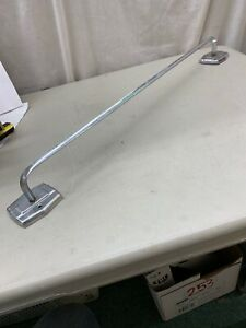 "Vtg Mid Century Autoyre Fairfield 24"" Chrome Towel Bar Deco Style camper glamper"
