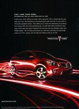 2009 Pontiac Vibe Original Advertisement Print Art Car Ad J399