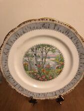 "SET OF FOUR - Royal Albert Bone China SILVER BIRCH Dinner Plates 10 1/4"" LOT2"