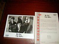 1997 Bush Tetras 'Beauty Lies 1997 Press  Kit & 8 X 10 Photo