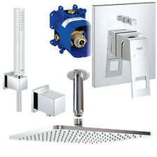 Grohe & Ideal Standard Unterputz Duschsystem, Kopfbrause, Eurocube Idealrain Set