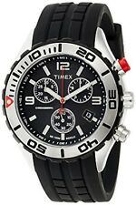 Timex reloj de hombre SL series Cronógrafo (banda de Pu negro) T2m761