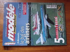 $$a1 Revue modele magazine N°591 Plan encarte Chorus  Airliners  ASW 27  Psycho