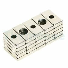 25 x N35 Strong Block Magnet 10mm x20mm x 4mm w/ Hole 5mm Rare Earth Neodymium