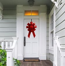 "Giant Red 22"" Front Door Bow Kit Hanging Large Holiday Christmas Decoration"
