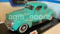 Maisto 1:18 Scale - Ford Deluxe Coupe 1939 - Green - Diecast Model Car