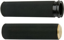 Arlen Ness Fusion Knurled Grips Brass Fly-By-Wire 07-334