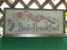 Beautiful Primitive Wood Bed And Breakfast Sign