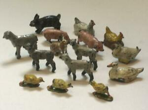 Britains Lead Tiny Farm Animals - Hens Chickens Sheep Pigs etc - Miniatures