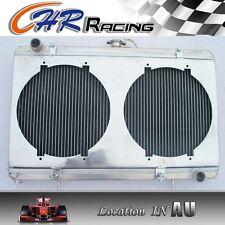 "For Nissan Silvia S13 SR20DET Aluminum Radiator with 2x12"" Fans + Shroud"