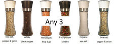 Re-fillable ceramic grinder set, any three.