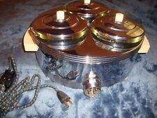 1930's Chase Brass & Copper Food Warmer HI LO Temp Top of the line Model