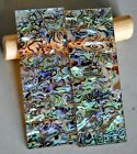 """Pair Abalone Shell On Clear Acrylic 5.5"""" X 2"""" X 1/4"""" Blank Knife Handles Scales"""