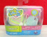 "Zhu Zhu Pets Merritt 4"" Pajama Party Hamster Toy Merritt With Sound T3"