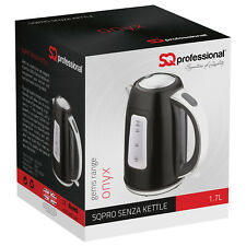 1.7L Kitchen Electric Cordless Kettle LED Light 2200W Tea Coffee Water Black