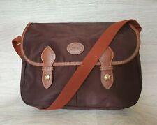 Vintage Authentic Longchamp Messenger Bag Two Pockets Brown France Unisex