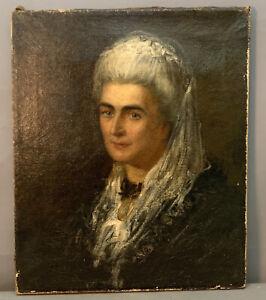 Early 19thC Antique LADY PORTRAIT Old GEORGIAN Era ESTATE Oil PAINTING