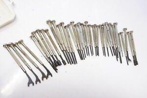 Konvolut verschiedener kleiner Schraubenzieher - 10 cm Länge Metall-Feinmechanik