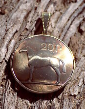 12 Pendants - Ireland Horse Domed Pendant Celtic Irish Coin Necklace Jewelry